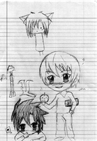 Death note doodles by Kiwii-puff
