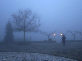 Walking in the fog by Mprintochainis