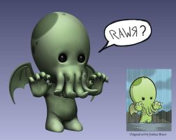 Baby Cthulhu by Ixideon