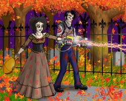 GB: Ed+Ky Sweeney Todd Samhain by WolfenM