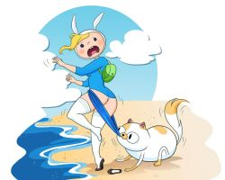 fionna coppertone. adventure time by bypaulo