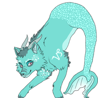 Adoptable Zodiac Wolves: Capricorn *CLOSED* by moothequackingcow