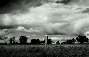 Farmscape with silo by Adeimantus