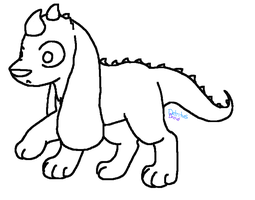 Puppysaur Free Lineart (MS Paint Version) by DetritusDroid