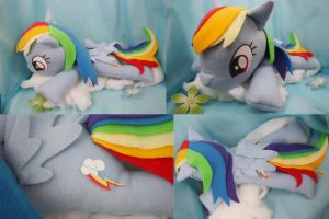 Rainbow Dash Big Beanie Baby Plush by bluepaws21