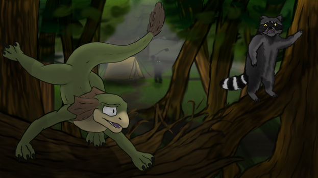 Chase in the forest by wasder26