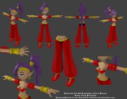 3D Shantae Progress 2 by Mythical-Human