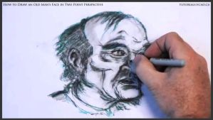 Draw An Old Man's Face In Two Point Perspective 44 by drawingcourse