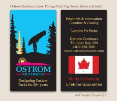 Ostrom Canoe Portage Pack Tag Design by Wolf-Daughter