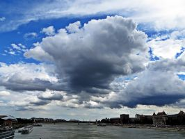 Clouds over the Danube 2. by julia51