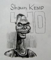 Shawn Kemp Number 40 Sonics by aaronphilby