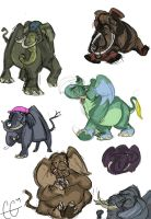 Elephante sketches by Clairictures