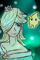 Rosalina With Luma by TheBirthdayMuffin