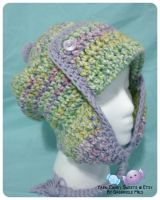 Aviator Ear-Flap Hat - Sugar and Spice 1 by moofestgirl