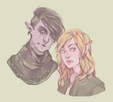 Commission : Veravain and Thrace by DaryaSpace