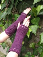 Fingerless gloves Purple by DimitrasArts