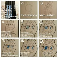 #2 How colour eyes in my style/ step by step by lunastyczna