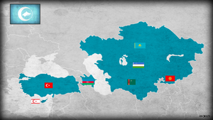 Turkestan Union map flags by AY-Deezy