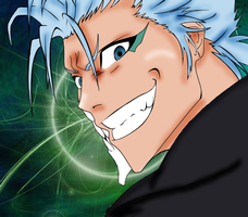 Grimmjow with background by akatsuki-girl-krista