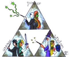 Triforce and Harry Potter by xannerobinx