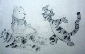 Pooh and Tigger by OshinP