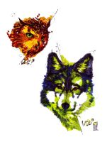 Two Wild Ecoline Sketches by ChiaRath