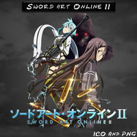 Sword art Online II ICO, PNG and Folder by bryan1213