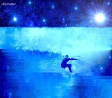cosmic surfer by chrysromeo
