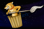 Jarl Shibe in space by barish-ki-boond