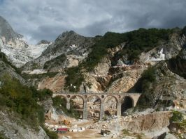 Carrara marble mine by janazar