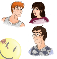 Watchmen Doodles by girlwonder004