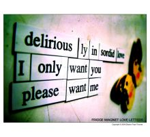 Fridge Magnet Love Letters by LithiumFX