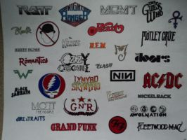 Sharpie Band Logo Collection 3 by TeeStall