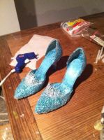 My Elsa Shoes by KennadeeK