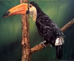 Bird Oil Painting by Vrashat
