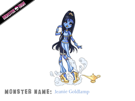 Monster High Contest - Jeanie Goldlamp by Blue-Fishies