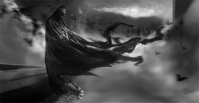 Dark Knight, Dark Night II by dez