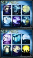 Silent Fright Backgrounds by cosmosue