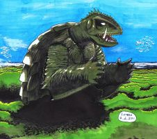 Gamera colored by Lersso
