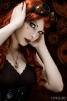 steampunk portrait II by Lycilia