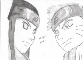 Neji vs Naruto by theunseen50