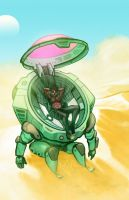 Mobile Suit Vacation: Desert Tan by dio-03