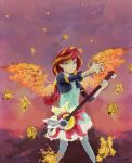 Sunset shimmer guitar by OwlVortex