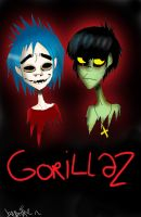 2D and Murdoc by angie2d