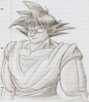 Goku Pencil Drawing by PyroDragoness
