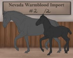 Nevada-Warmblood mother and foal CUSTOMS by BRls-love-is-MY-Live