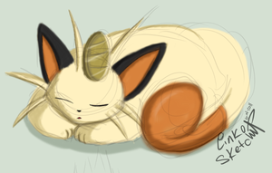 Day 169 - Sleepy Meowth by LinkSketchit