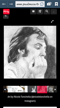 MY DRAWING IS REALLY IN PAUL MCCARTNEY SITE!!! by Macca4ever