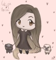 Marzia and Pugs by JuliaJacobss