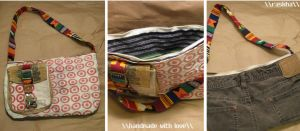 Recycled Purse 1 by Raskha